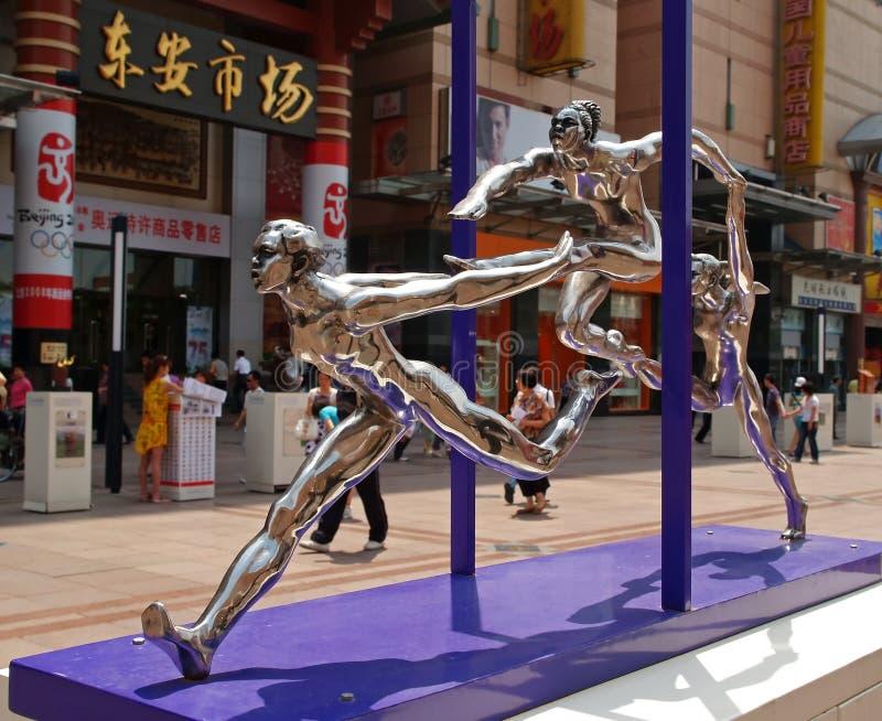 Sculture Olimpiche 2008 Della Città Di Estate Di Pechino Fotografia Editoriale