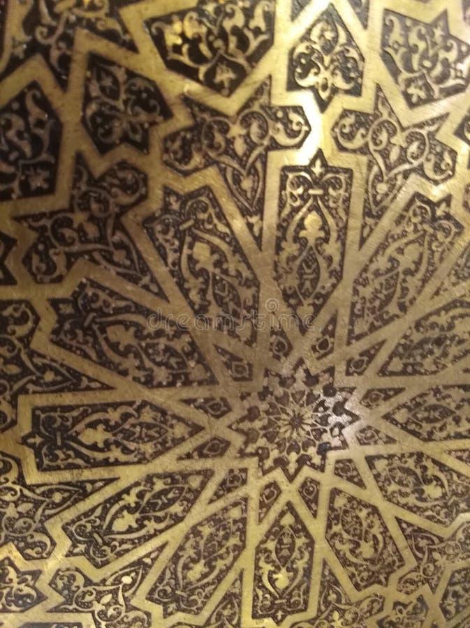 Sculture ornamentali artistiche orientali arabe dorate fotografie stock