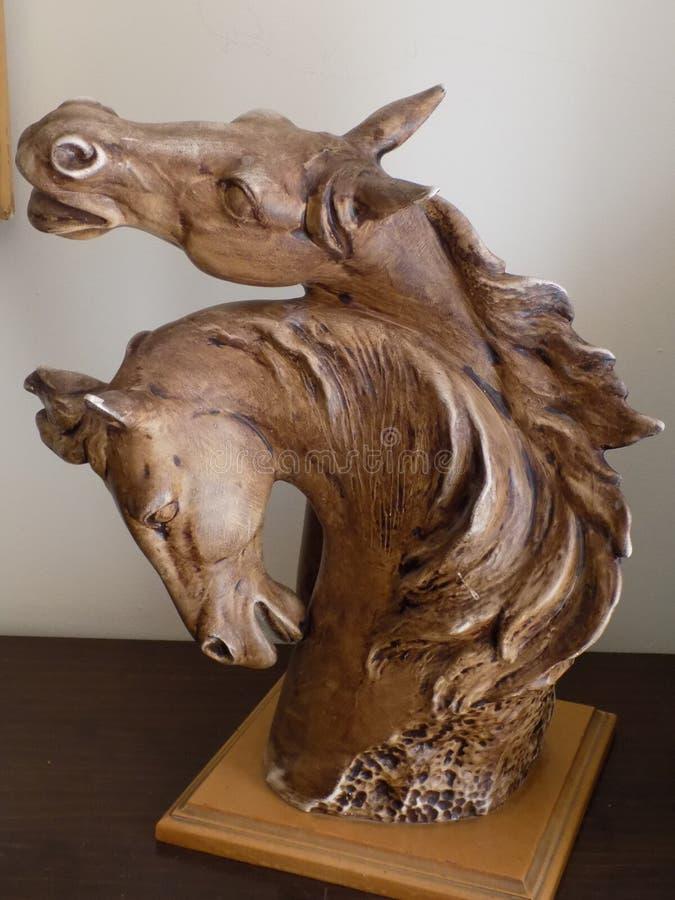 Sculture-Pferdeköpfe lizenzfreies stockfoto