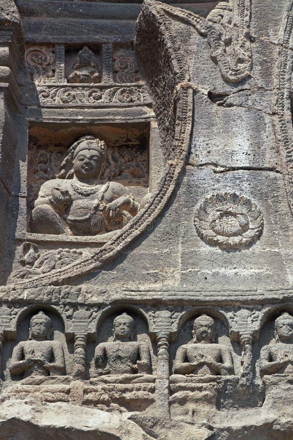 Sculture religiose antiche della roccia fotografie stock
