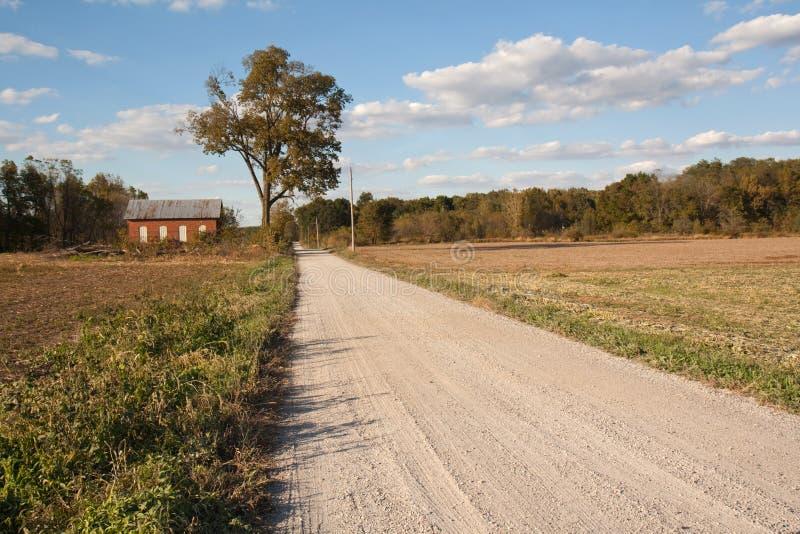 Scuola abbandonata della un-stanza in Indiana fotografia stock