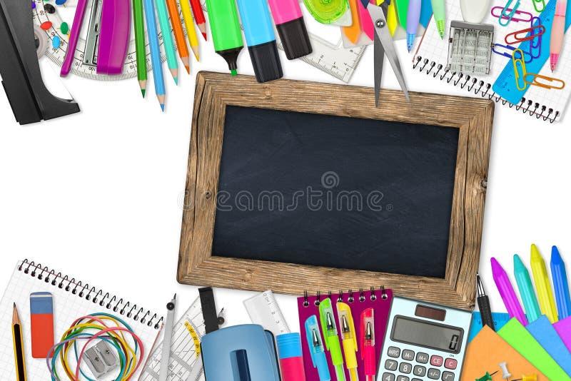 Scuola/articoli per ufficio fotografia stock libera da diritti