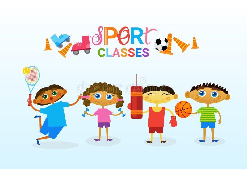 Scuola artistica creativa di Art Classes For Kids Logo per l'insegna dei bambini royalty illustrazione gratis