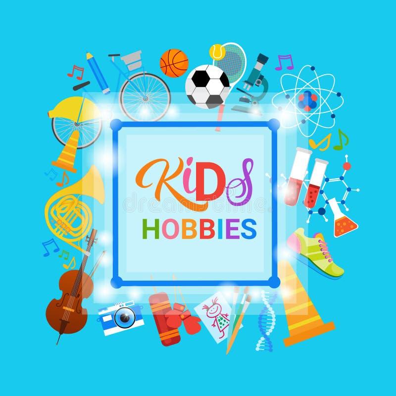 Scuola artistica di Art Classes Logo Workshop Creative di hobby dei bambini per l'insegna di sviluppo di bambini royalty illustrazione gratis