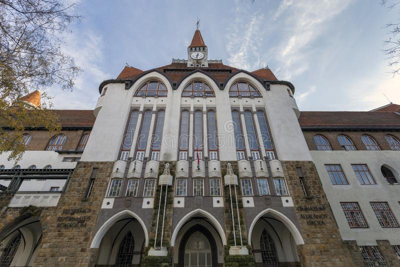 Scuola di grammatica del Calvinist College di Kecskemet immagine stock libera da diritti