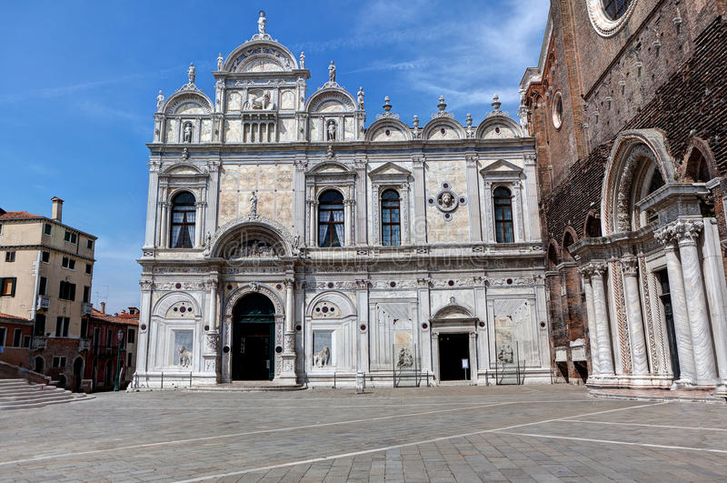 Scuola di San Marco, Venedig, Italien royaltyfri foto