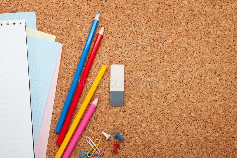 Scuola e articoli per ufficio fotografia stock