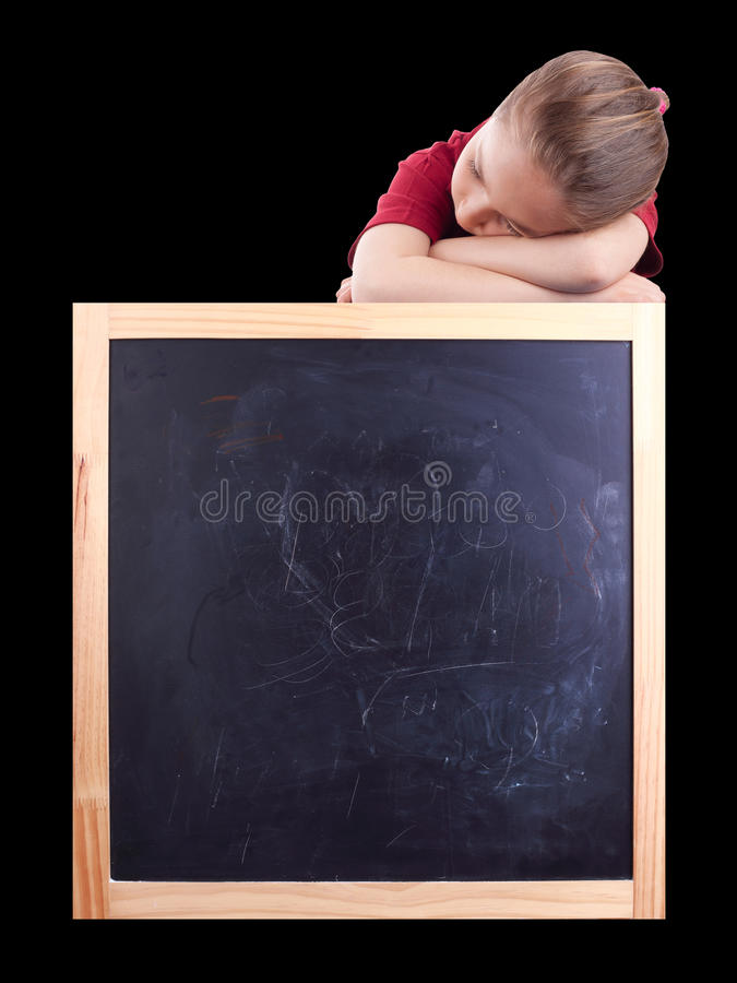 Scuola e sonno fotografia stock