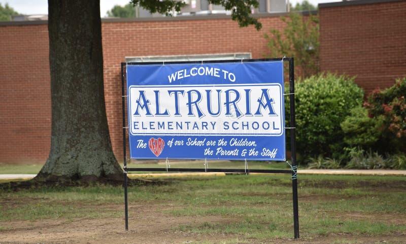 Scuola elementare Bartlett, TN di Altruria fotografia stock libera da diritti