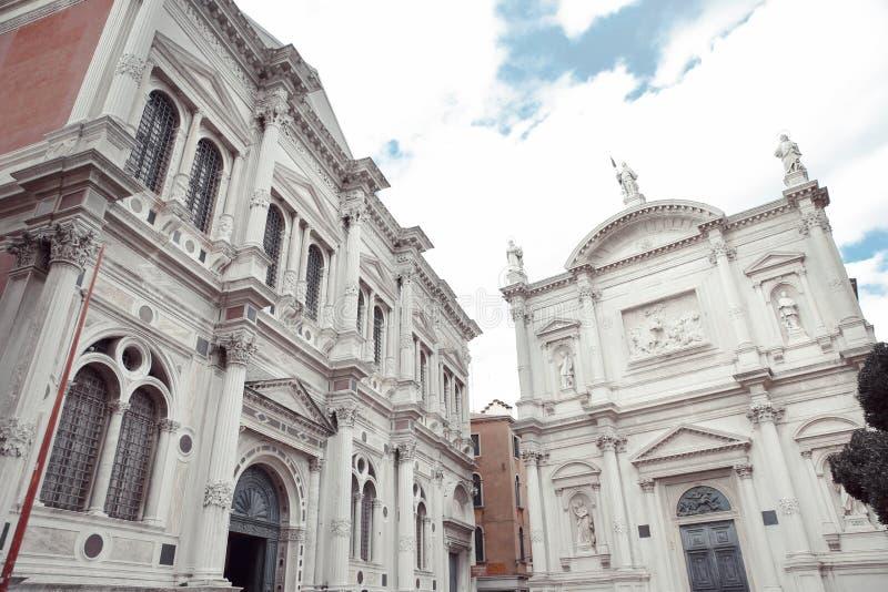 Scuola Grande di San Rocco und Kirche Chiesa San Rocco in Venedig lizenzfreie stockbilder