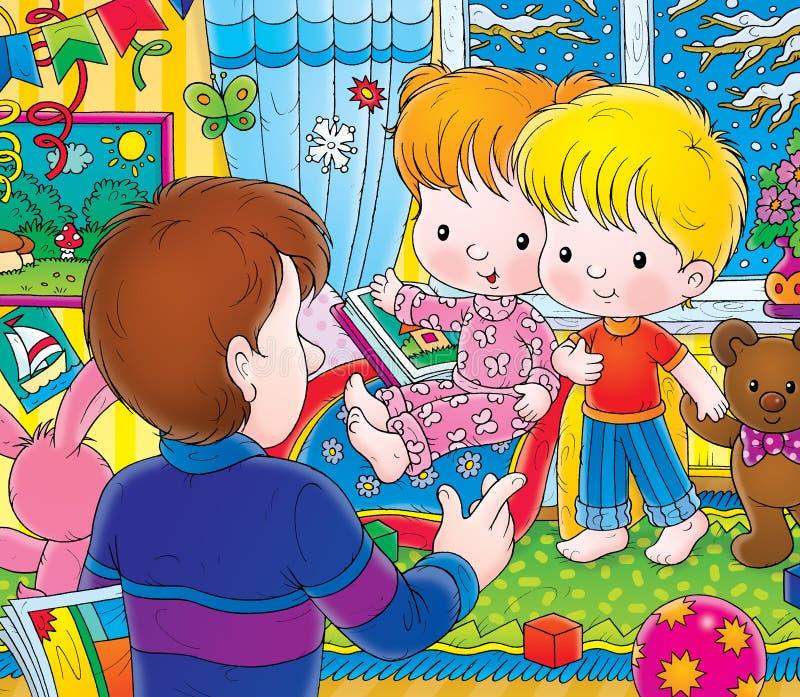 Scuola materna illustrazione di stock