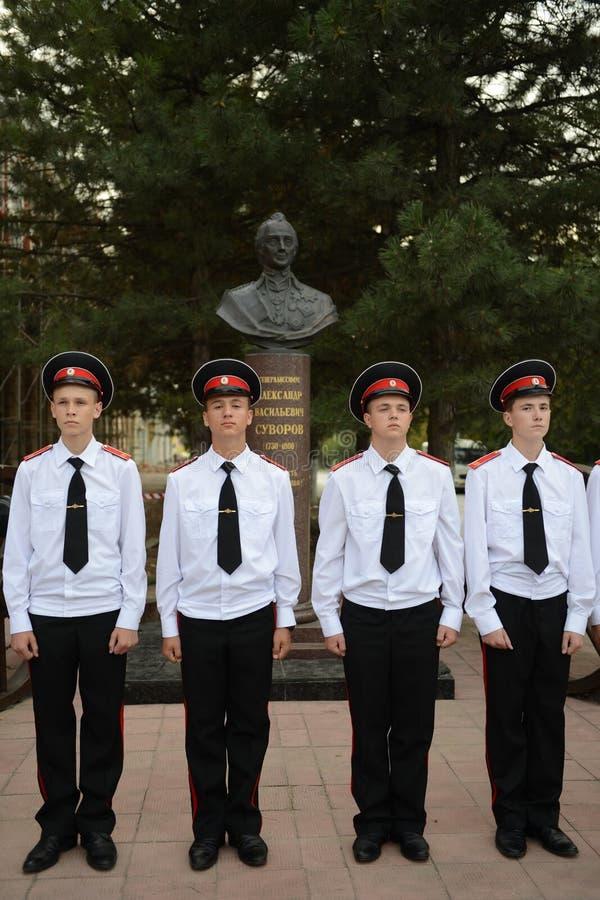 Scuola militare di Novocerkassk Suvorov dei cadetti fotografia stock