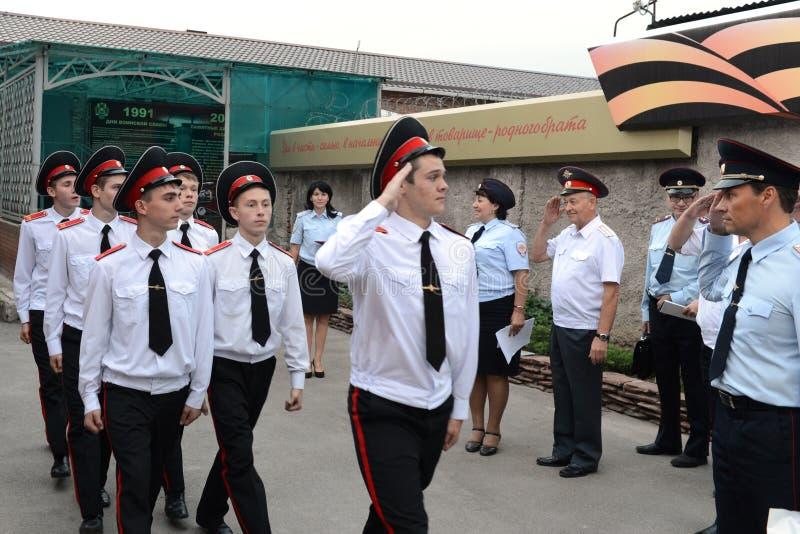 Scuola militare di Novocerkassk Suvorov dei cadetti fotografie stock libere da diritti