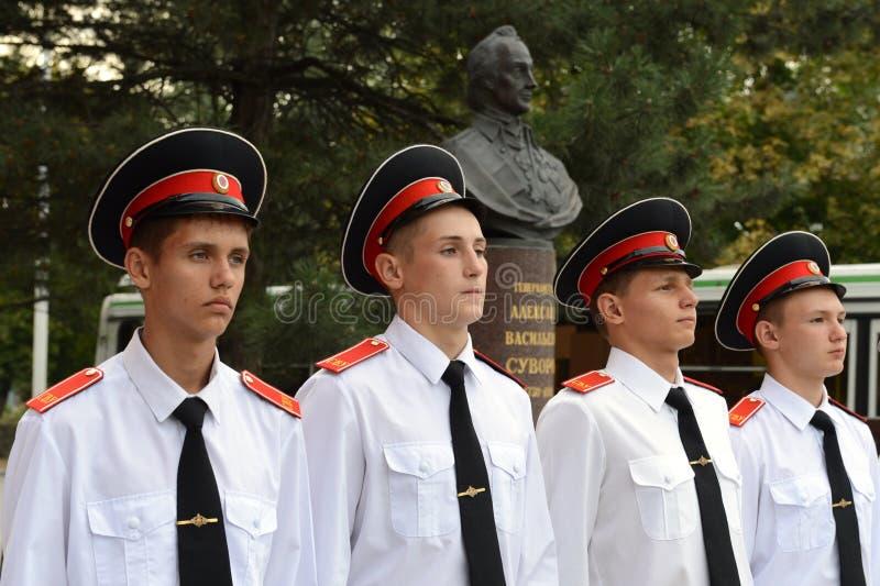Scuola militare di Novocerkassk Suvorov dei cadetti immagine stock libera da diritti