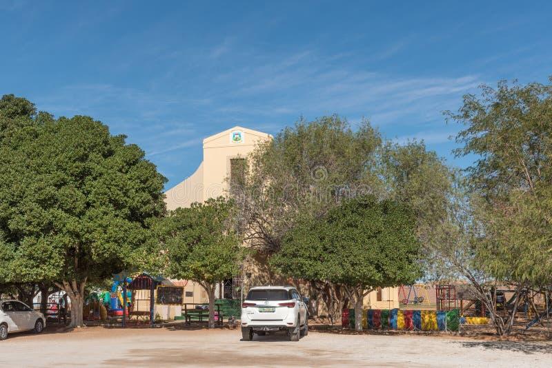 Scuola pre-primaria di Pikkiebult in una vecchia chiesa in Kakamas immagine stock libera da diritti