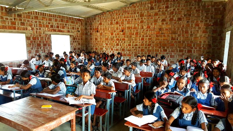 Scuola tribale in India fotografia stock libera da diritti