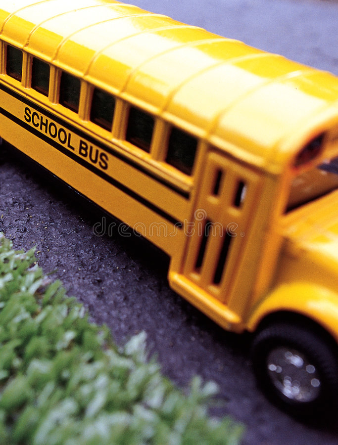 Scuolabus del giocattolo immagine stock libera da diritti