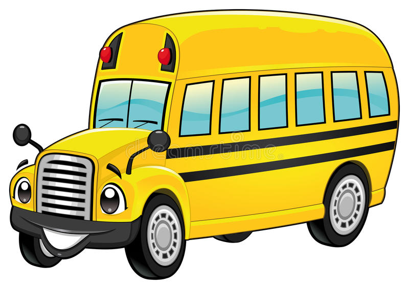Scuolabus divertente. illustrazione di stock