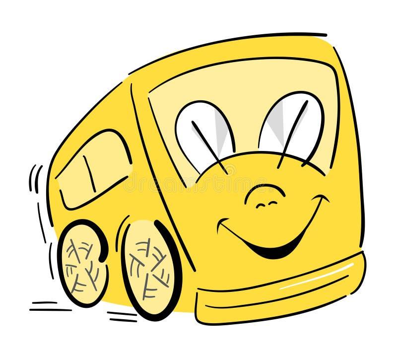 Scuolabus felice illustrazione vettoriale