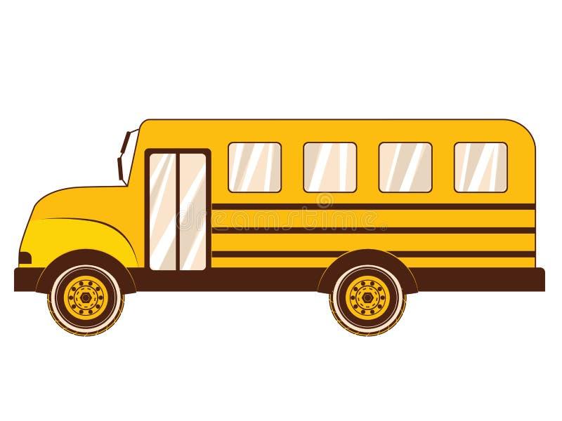 Scuolabus giallo royalty illustrazione gratis