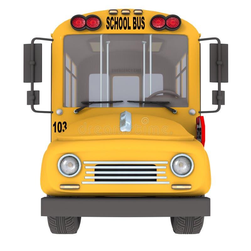 Scuolabus giallo illustrazione di stock