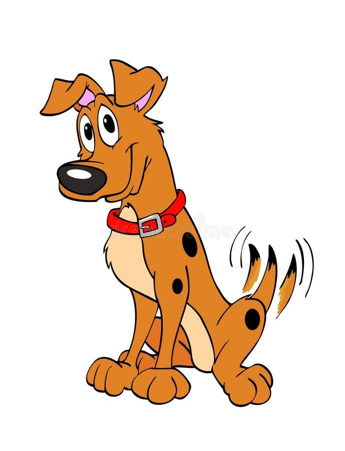 Scuotere felice della coda del cane illustrazione vettoriale