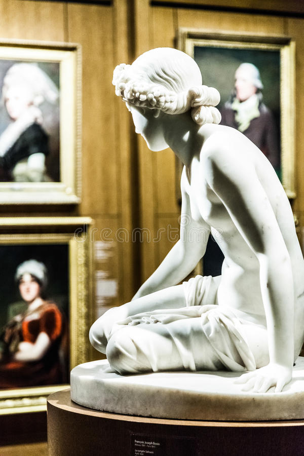 Scupture inside the Montreal Fine Arts Museum royalty free stock images