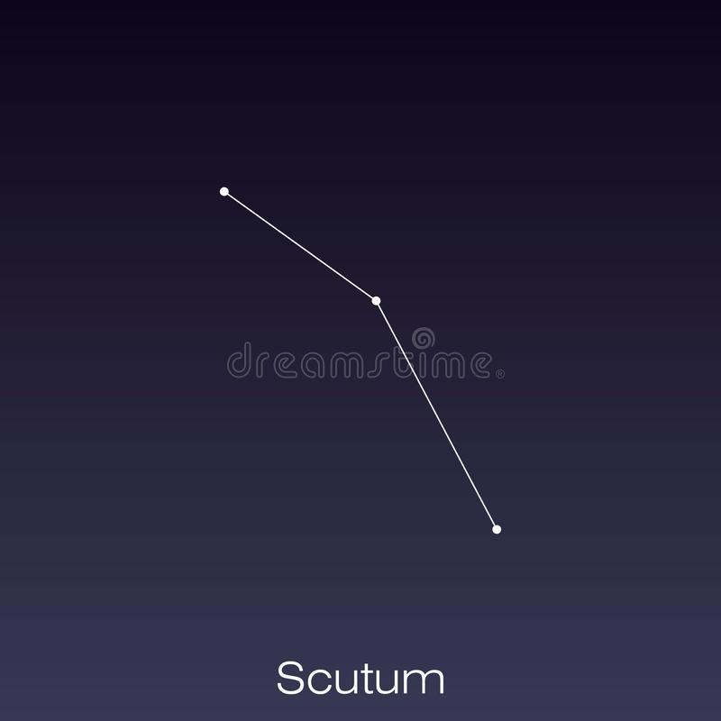 Constellation as it can be seen by the naked eye. Scutum constellation as it can be seen by the naked eye royalty free illustration