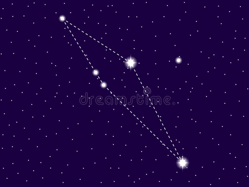 Scutum constellation. Starry night sky. Zodiac sign. Cluster of stars and galaxies. Deep space. Vector. Illustration stock illustration