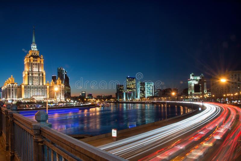 Scyscraper Сталина панорамы Москвы стоковые изображения