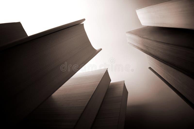 Scyscraper-like books stock image