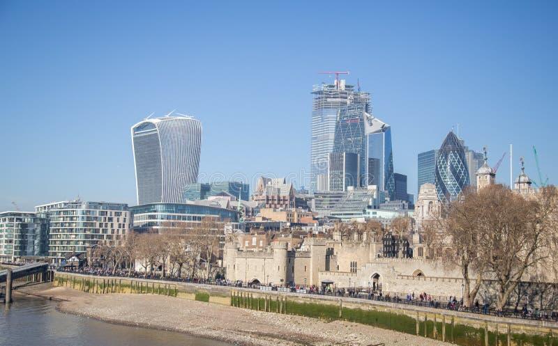 Scyscrapers 2019 da cidade de Londres imagem de stock