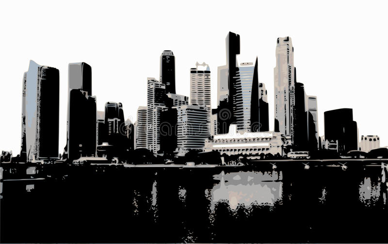 Download Scyscrapers on Manhattan stock illustration. Illustration of cityscape - 10002990