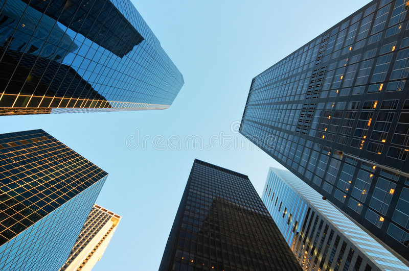 Scyscrapers in New York royalty free stock photos