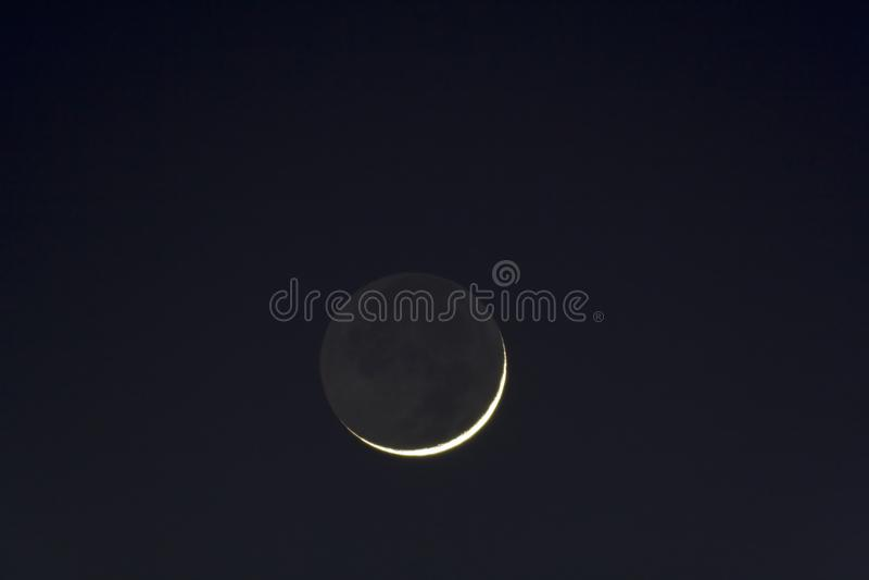 Scythe of Moon stock photography