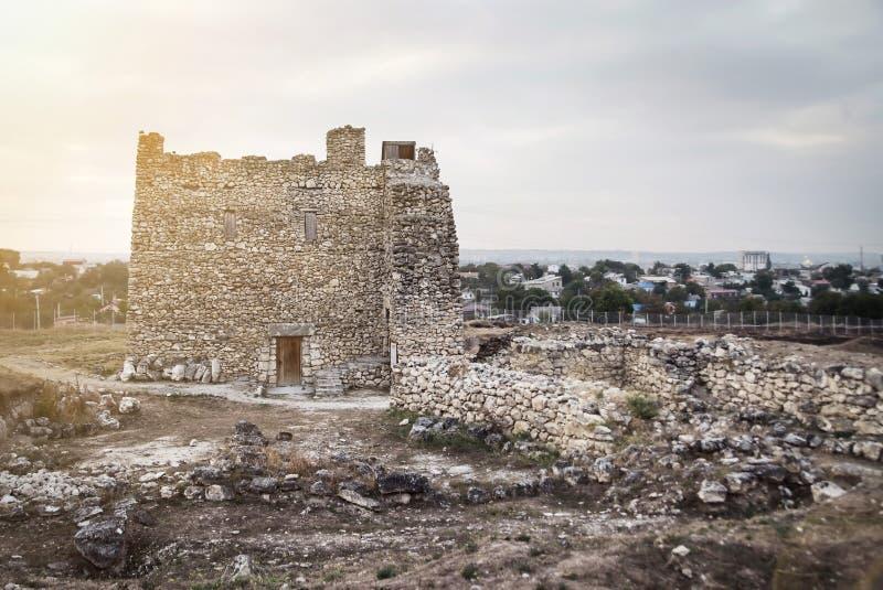 Scythian Neapolis Antyczny miasto Scythian Naples w Simferopol, Crimea fotografia royalty free