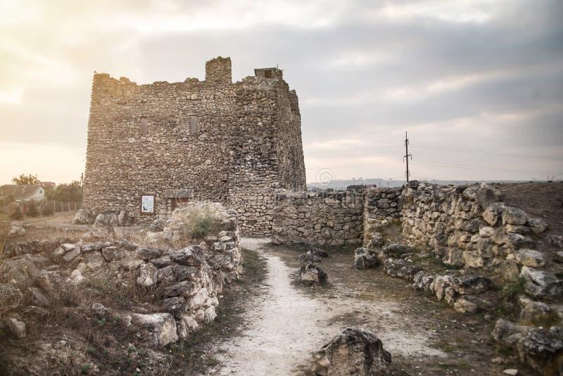 Scythianen Neapolis Forntida stad Scythian Naples i Simferopol, Krim royaltyfria bilder