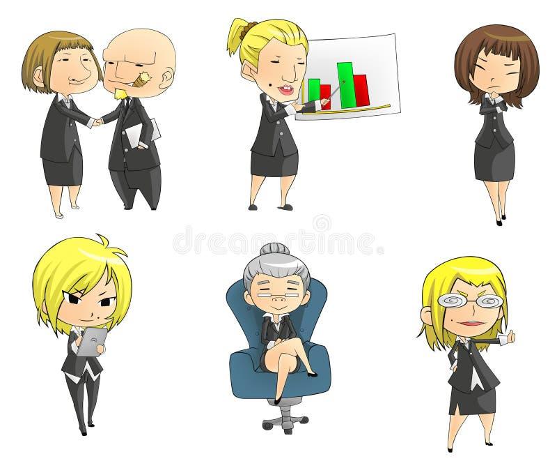 SD bizneswomanów kolekci set royalty ilustracja