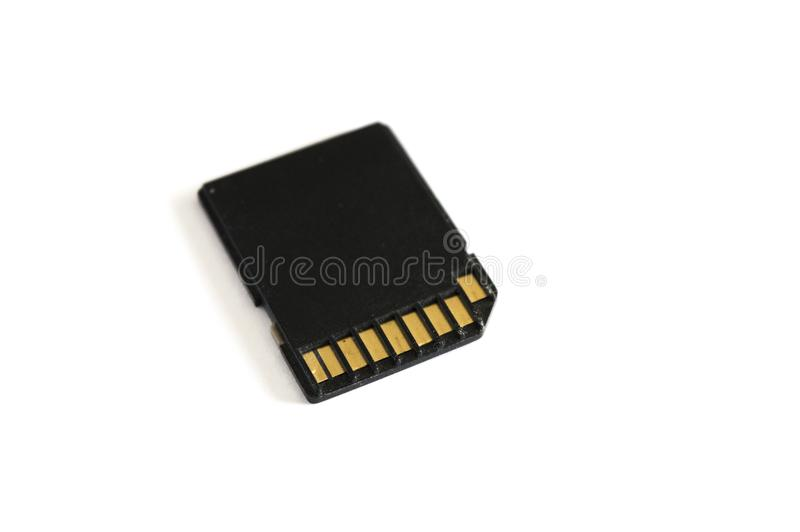 SD Card Adapter on White background. SD Card Adapter isolated on white background royalty free stock photos