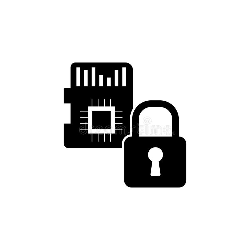 Sd Card Security Icon Elements Of Cyber Security Icon Premium