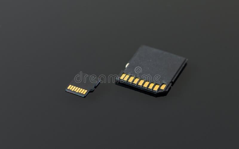 SD e micro cartão do SD fotos de stock royalty free