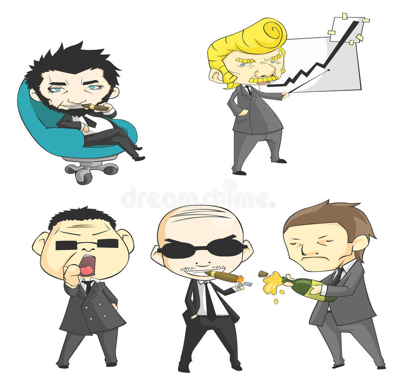 Download SD mafia collection set stock vector. Image of gangster - 30736894