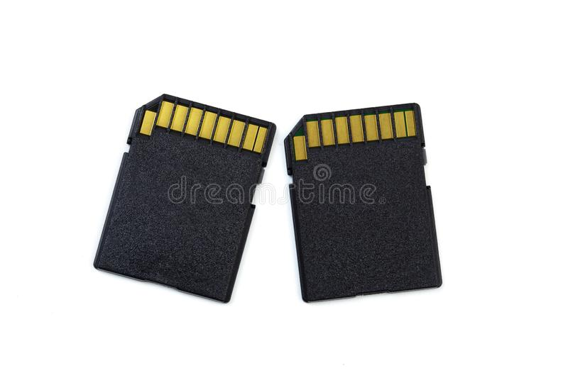 SD memory card isolated on white background royalty free stock photo