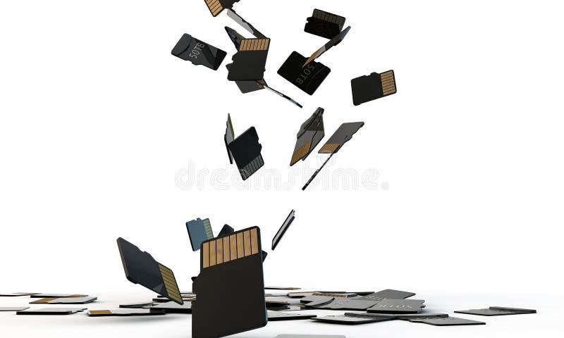 Download Sd memory cards stock illustration. Illustration of high - 25967941