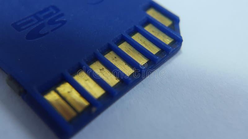 SDHC, le type de mémoire qui est habituellement employée par les dispositifs numériques tels que des caméras de DSLR image stock
