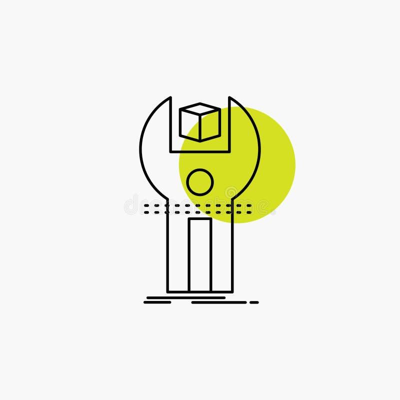 SDK, приложение, развитие, набор, линия программирования значок бесплатная иллюстрация