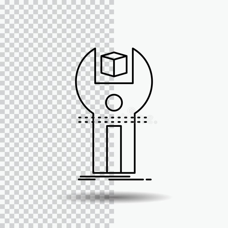 SDK, App, Entwicklung, Ausrüstung, Programmzeile Ikone auf transparentem Hintergrund Schwarze Ikonenvektorillustration stock abbildung