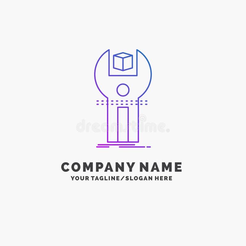 SDK, App, sviluppo, corredo, affare porpora di programmazione Logo Template Posto per il Tagline royalty illustrazione gratis