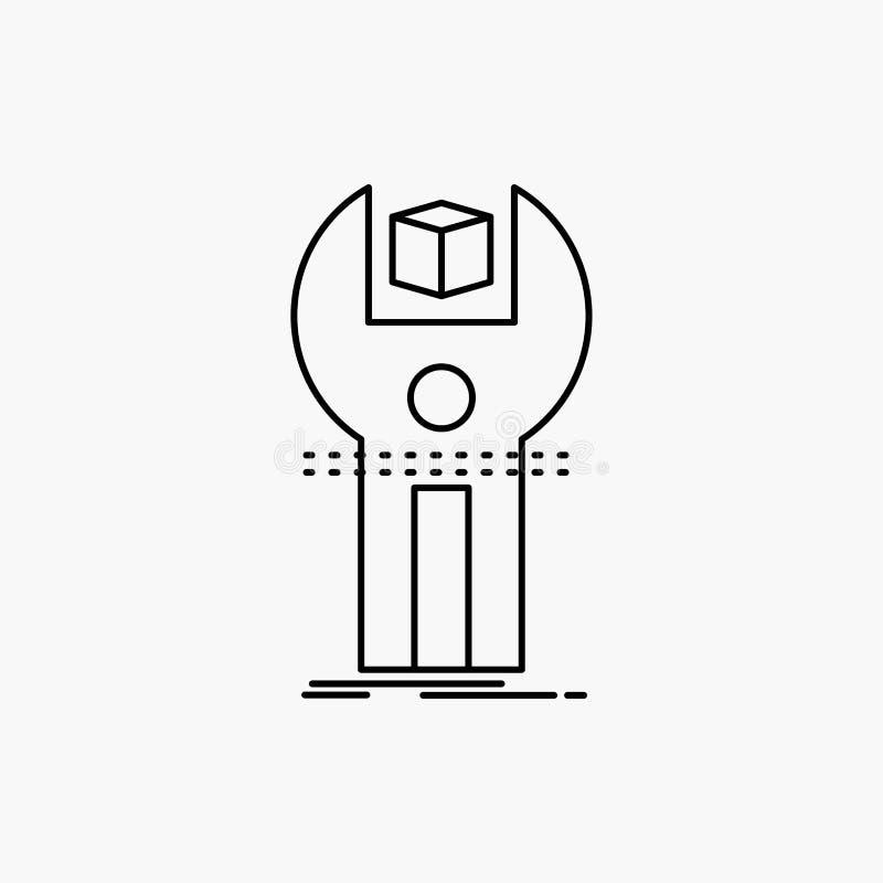 SDK, App, sviluppo, corredo, linea di programmazione icona Illustrazione isolata vettore illustrazione vettoriale