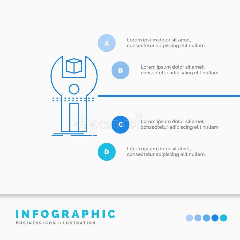 SDK, App, sviluppo, corredo, modello di programmazione di Infographics per il sito Web e presentazione Linea stile infographic de royalty illustrazione gratis